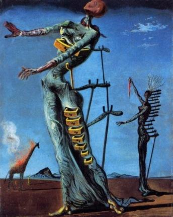 Girafe en feu - Dali